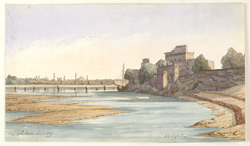 Distant view of the city of Lahore (Punjab) from the right bank of the Ravi River. January 1849 2817